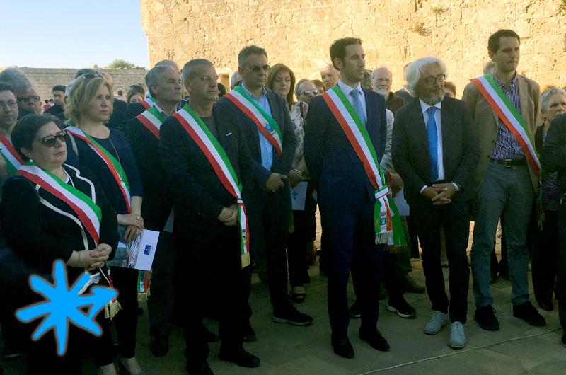 Inaugurazione Cammino di Leuca - Posa della prima pietra miliare